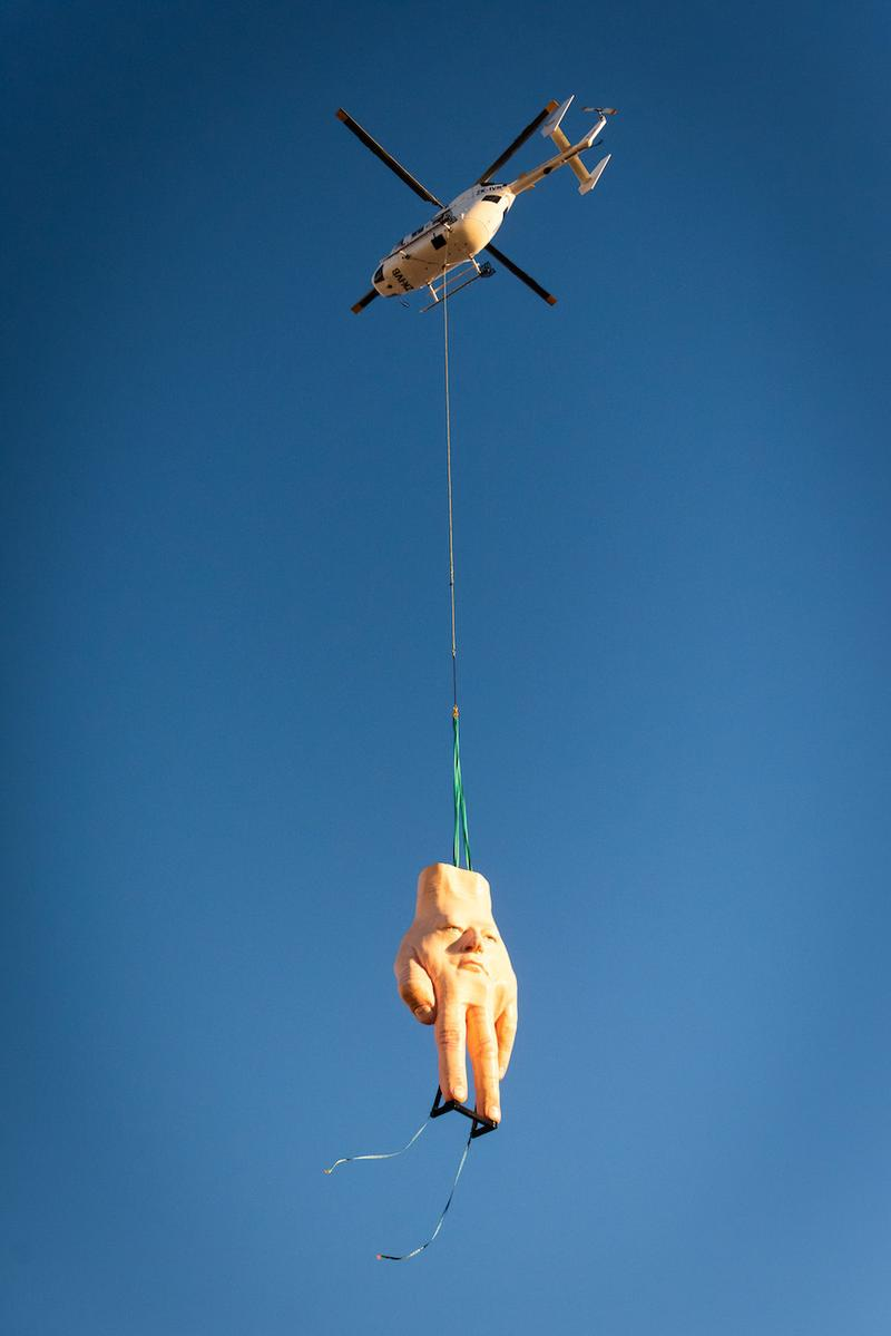 ronnie van hout quasi hand sculpture city gallery new zealand wellington