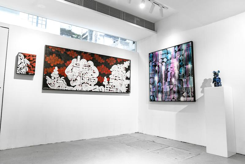 rostarr introspectives woaw exhibition hong kong artworks shows sculptures paintings abstract graffiti urban art