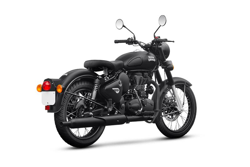 Royal Enfield Classic 500 Stealth Black Release motorcycles bikes vintage riding racing speed