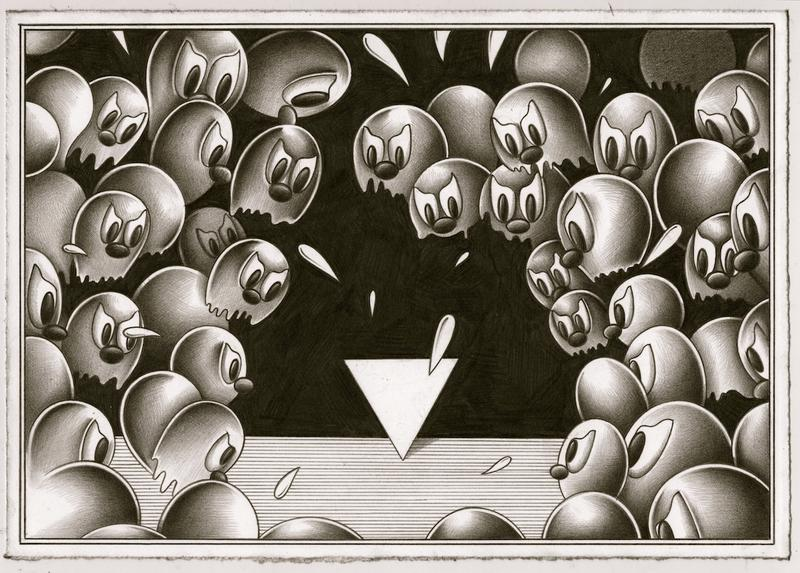 ryan travis christian ross kramer gallery exhibition danger is my maiden name graphite works artworks