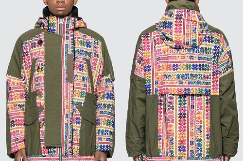 sacai Refreshes Fall Outerwear With Vibrant Floral Jacquard Trimmings