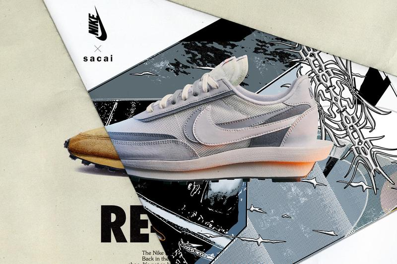 sacai nike blazer mid ldwaffle black white grey pink green orange release information date details buy cop purchase first official look chitose abe fraser cooke