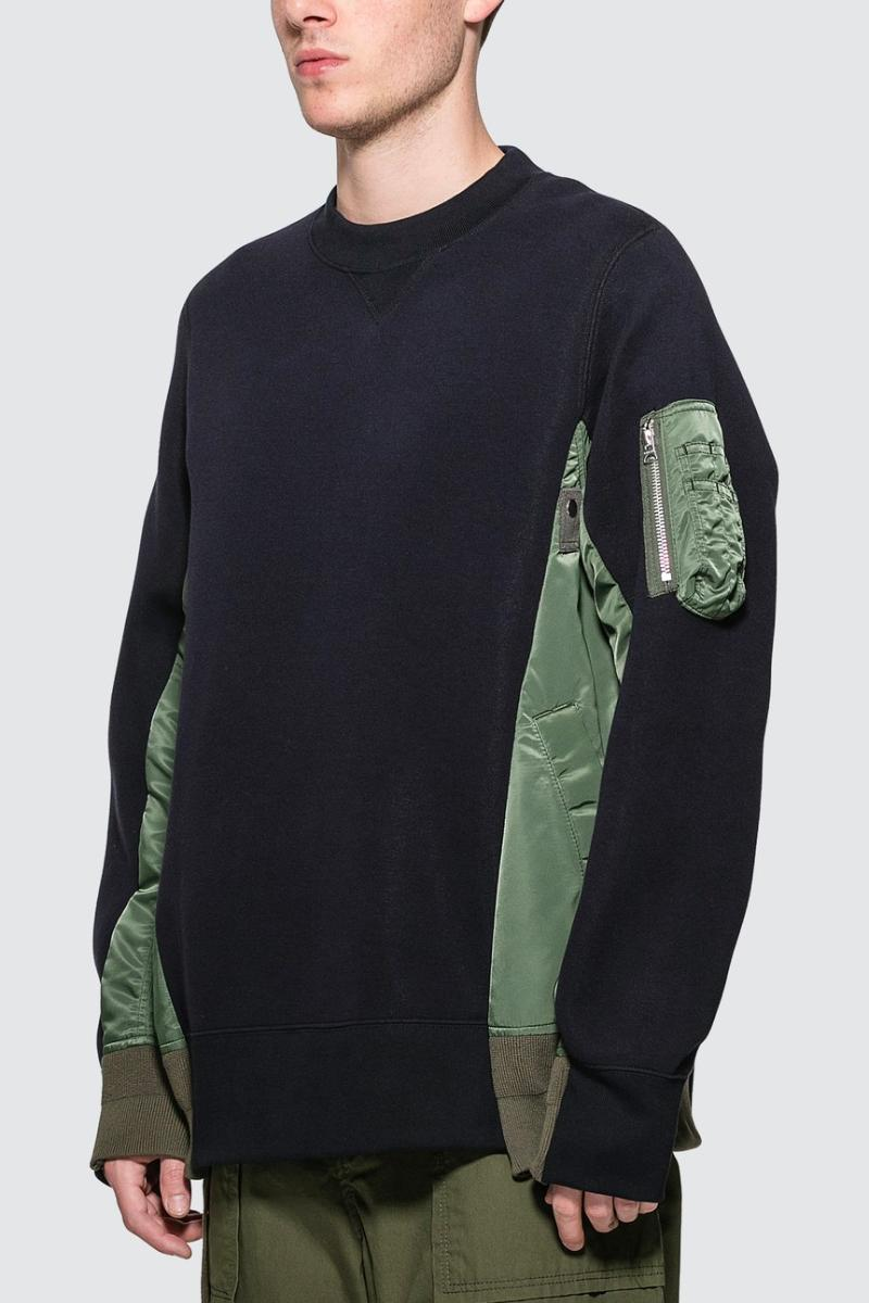 sacai MA-1 Sponge Sweat MA-1 HBX Release military jackets japanese Chitose Abe clothing sweaters quilted