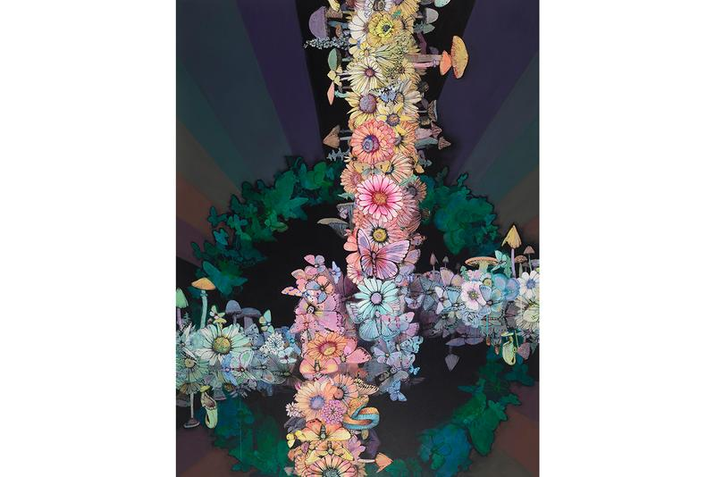 sage vaughn second nature exhibition artworks paintings figurative contemporary floral