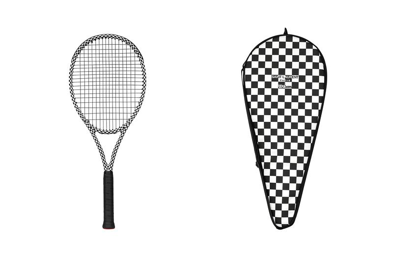 saint laurent rive droite 008 wilson tennis collection capsule rackets balls checkerboard no ka oi yoga mats brass dumbells athletic wear sportswear