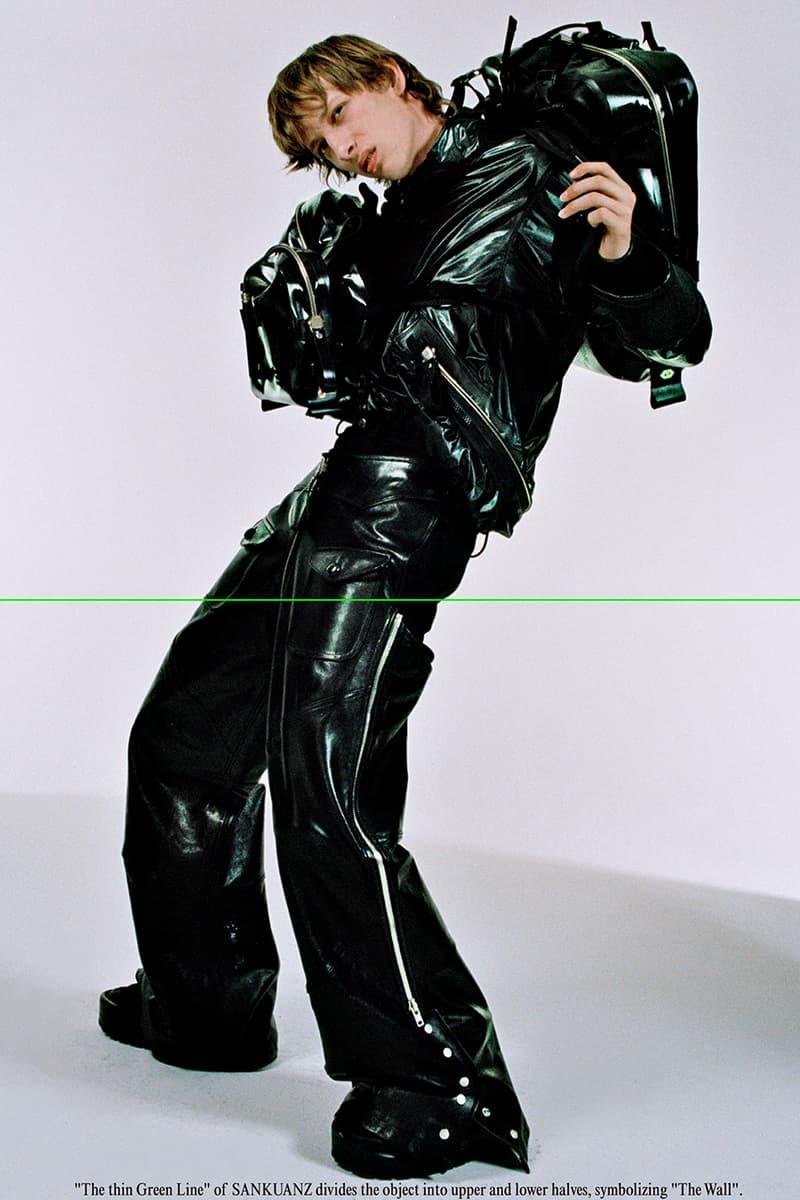 "SANKUANZ Fall Winter 2019 FW19 Lookbook Collection ""Drown 52"" Menswear Streetwear Chinese Brand Campaign Shangguan Zhe Retro Futuristic Huco Comte"