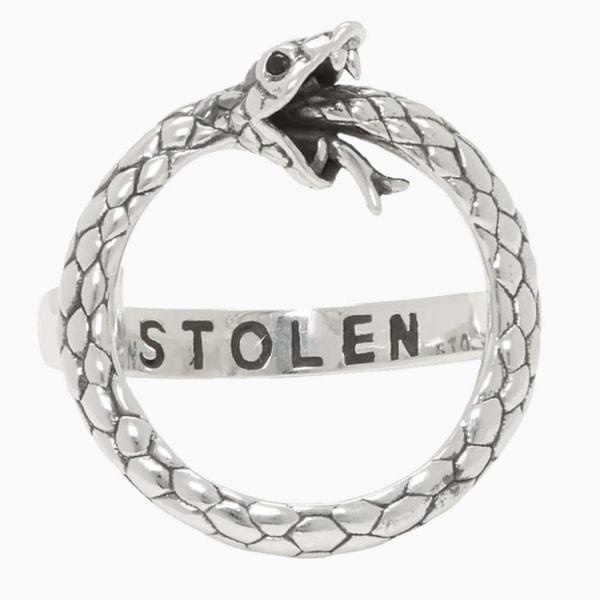 Stolen Girlfriends Club Silver Infinity Snake Ring