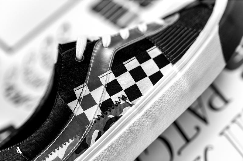 "size? x Vans Bold Ni ""Patchwork III"" Collaboration sneaker Drop release date info buy colorway black white august 30 2019 web store app"