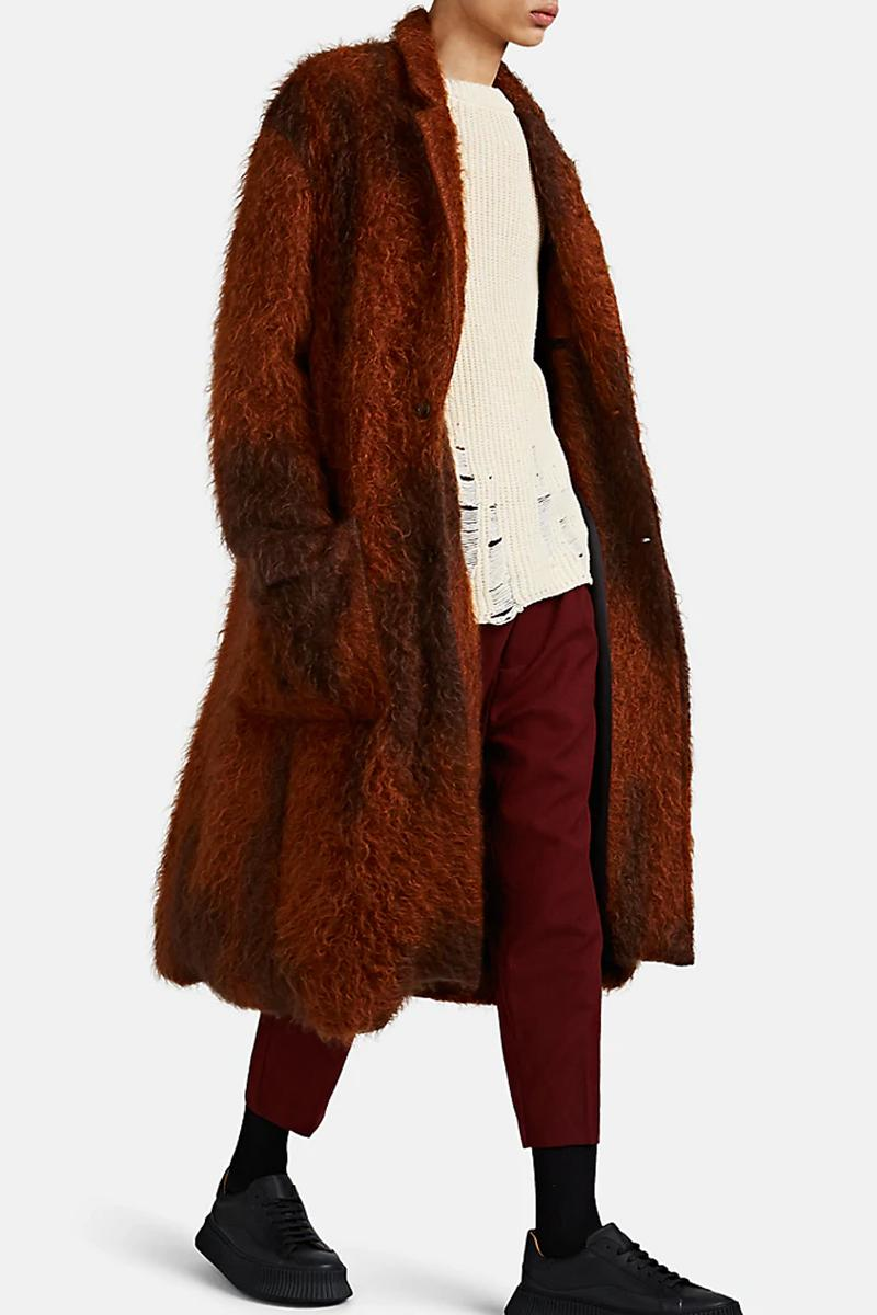 song for the mute fuzzy mohair blend two button topcoat coat fall winter 2019 release