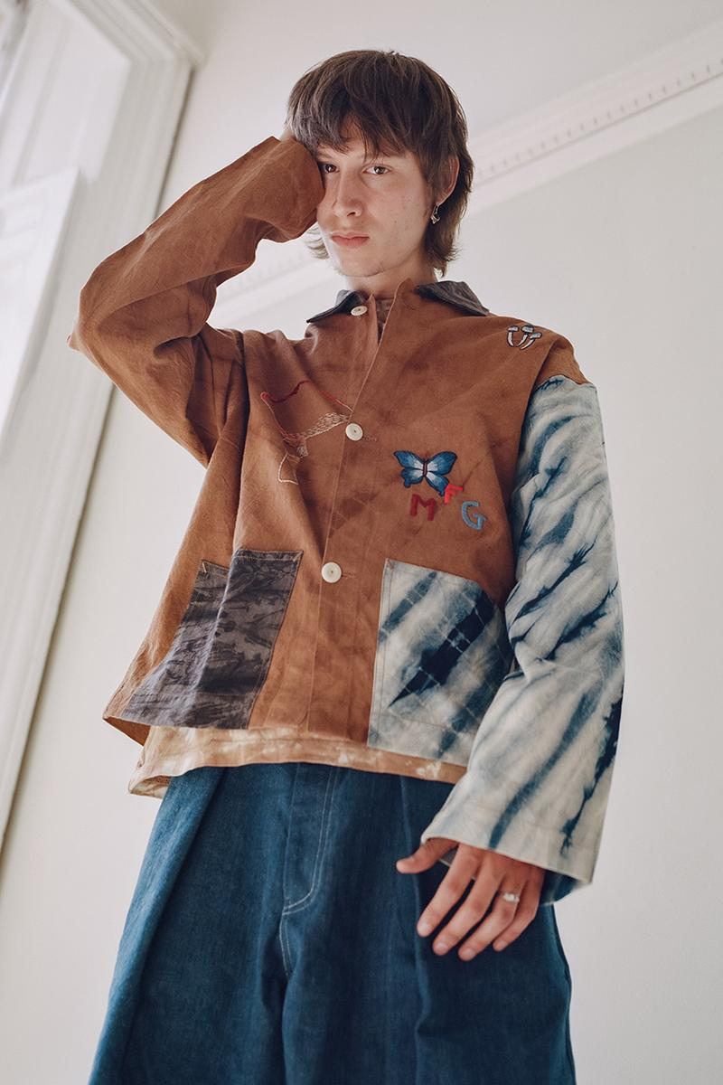 """STORY mfg. """"Earthtone"""" Fall/Winter 2019 FW19 Collection Lookbook Images Season British Brand Sustainable Organic Materials Plant-Powered Fabrics Dyes India Renewable Energy Cotton Cutouts Paper Labels Pub Culture"""