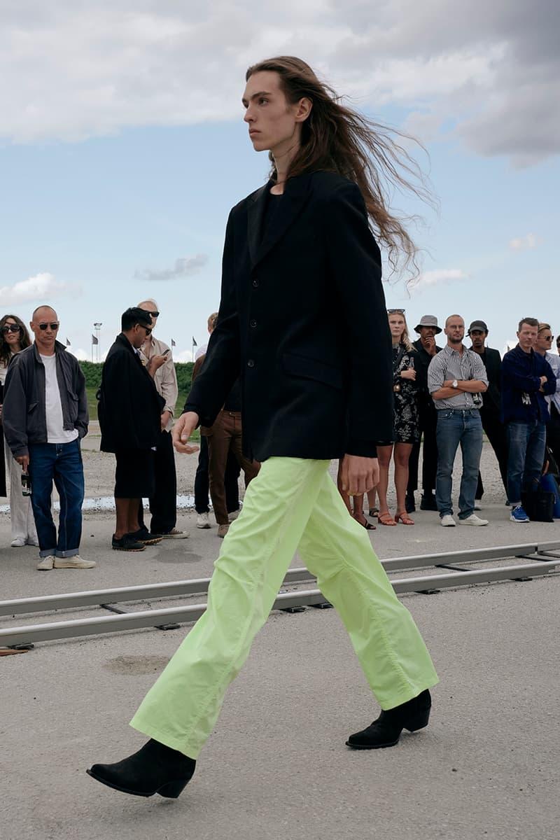 "Sunflower 03 Spring/Summer 2020 SS20 Copenhagen Fashion Week ""Neon Country"" Menswear Tailoring Runway Collections Presentations Ulrik Pedersen Italian Made Cowboy Boots Buttero"