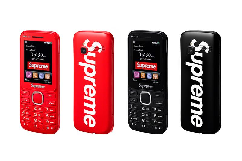 Supreme/BLU Burner Phone Supreme BLU Prepaid Mobile Device Technology Accessories Box Logo