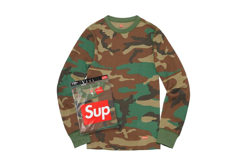 Supreme Fall/Winter 2019 Accessories Camo Hanes Long Sleeve