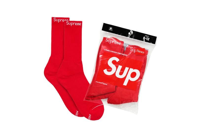 Supreme Fall/Winter 2019 Accessories Red Crew Socks