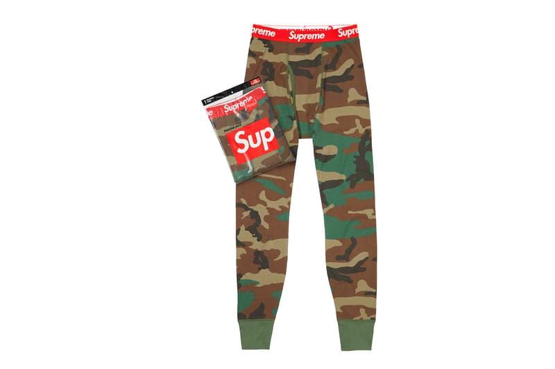 Supreme Fall/Winter 2019 Accessories Camo Long John Pants Leggings