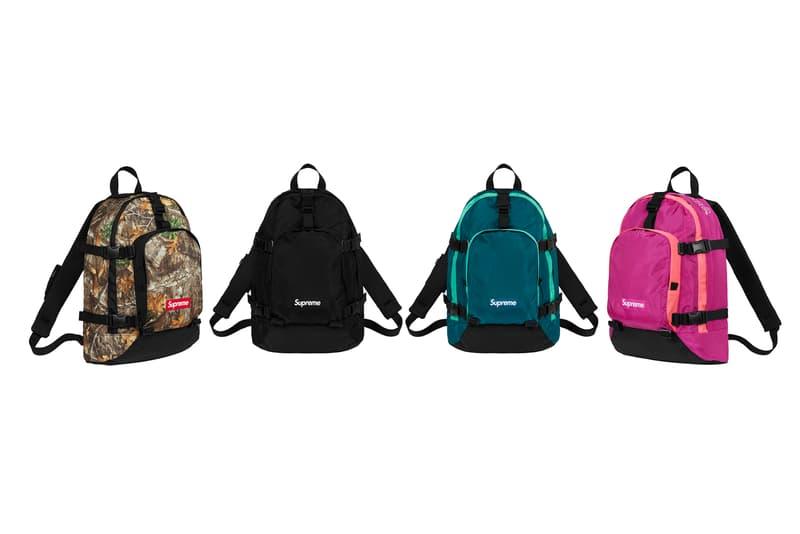Supreme Fall/Winter 2019 Accessories Backpacks Camo Purple Black Green