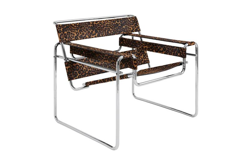 Supreme Fall/Winter 2019 Accessories Lounge Chair Animal Jaguar Print Knoll Wassily Chair designed by Marcel Breuer