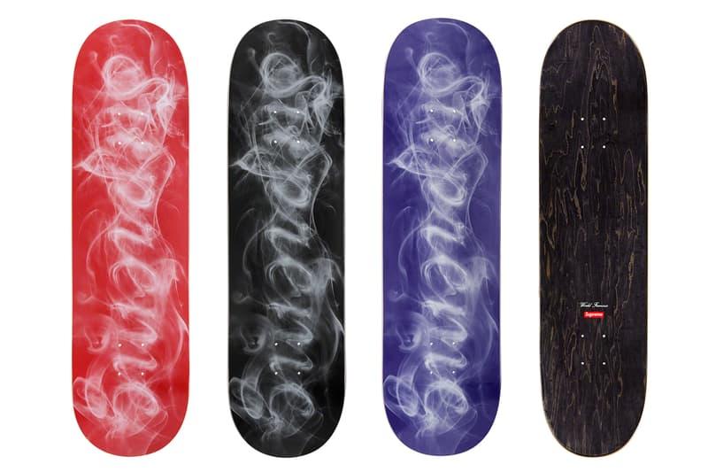 Supreme Fall/Winter 2019 Accessories Skate Decks Smoke Logo