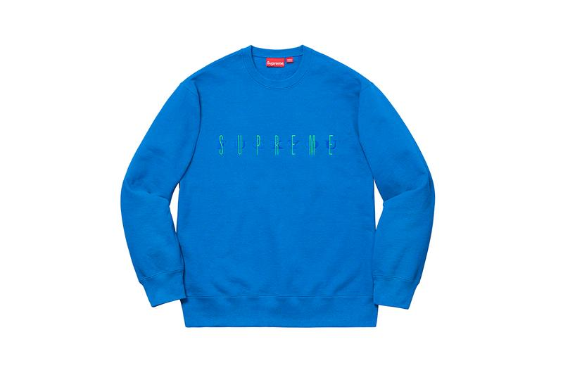 Supreme Fall Winter 2019 Sweats and Hoodies Box Logo Paisley Blue Camo Yellow Script Heaven and Earth Art 8 ball