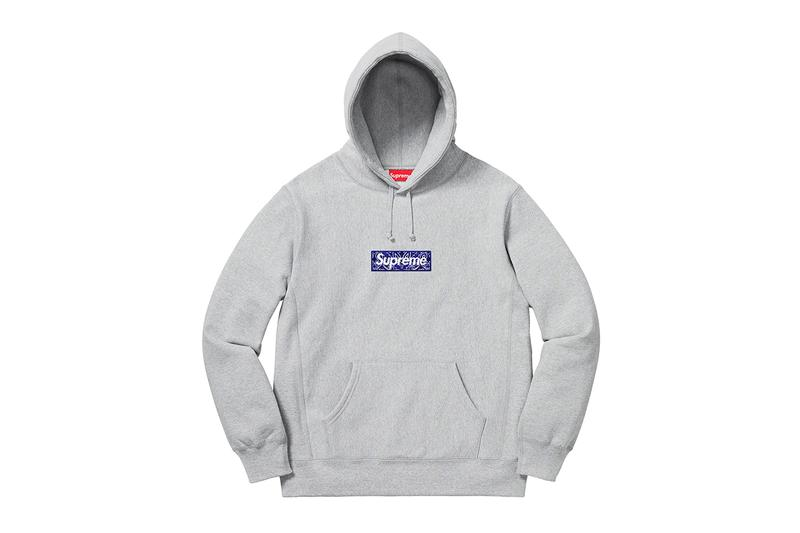 Supreme Fall Winter 2019 Sweats and Hoodies Box Logo Paisley Blue Camo Yellow Script Heaven and Earth Art 8 ball