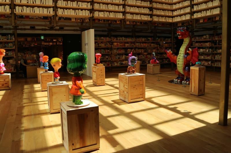 takahiro komuro vortex ginza tsutaya books atrium artworks sculptures japan tokyo