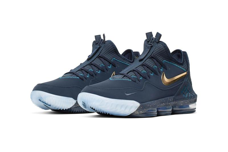 TITAN Nike LeBron 16 Agimat LeBron James Dark blue green azure basketball sneaker lightning bolt Bagobo filipino folklore leather neoprene footwear sneakers