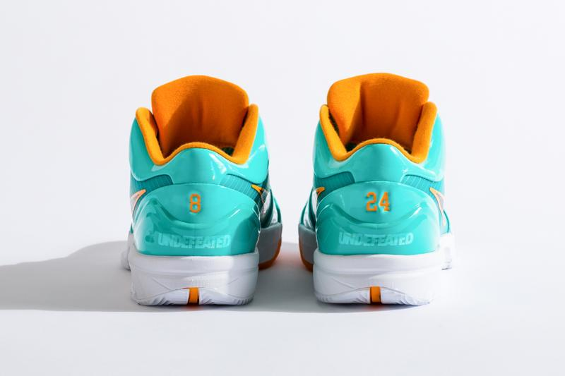 UNDEFEATED x Nike Zoom Kobe 4 Protro Pack Better Look UNDFTD sneakers kobe Bryant basketball HYPER JADE FIR TEAM ORANGE COURT PURPLE 24 8 release information