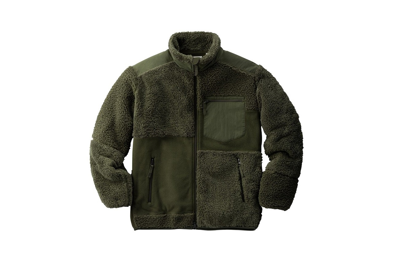 engineered garments uniqlo fleece collection pullover jacket military inspired green navy olive black grey buy cop purchase release information first look