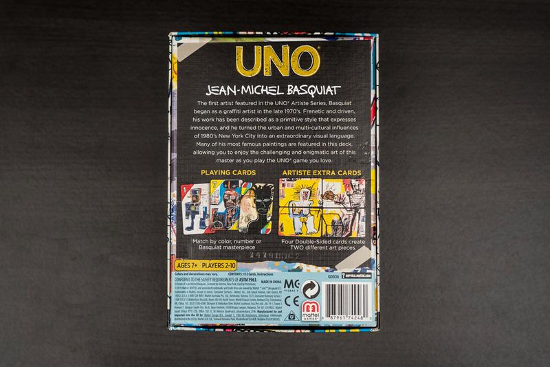 UNO Artiste Series 1 Jean Michel Basquiat Pack 1980s art design pop culture card game
