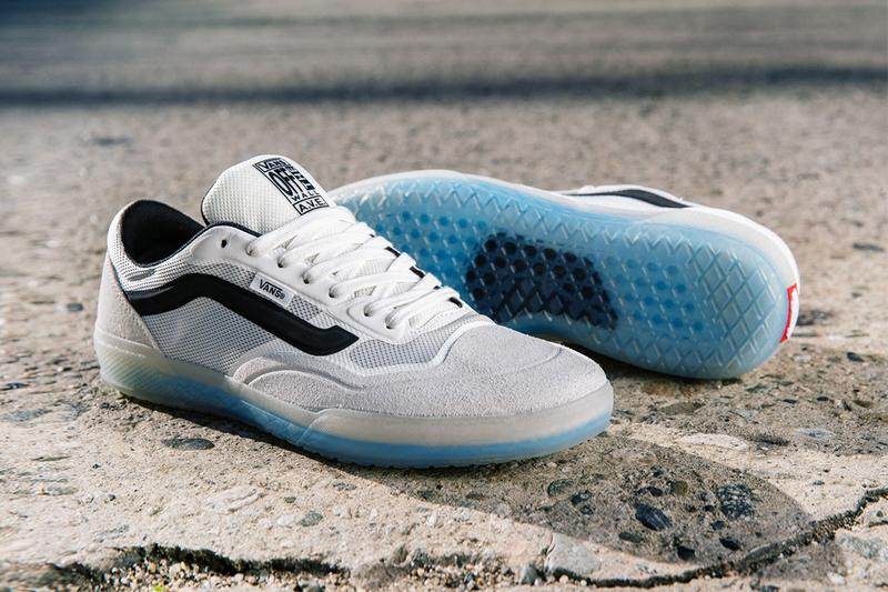 Anthony Van Engelen Singnature Shoe Vans AVE Pro white black gum sole blue suede mesh cushion black stripe flat breathable ULTIMATEWAFFLE CUPSOLE RapidWeld