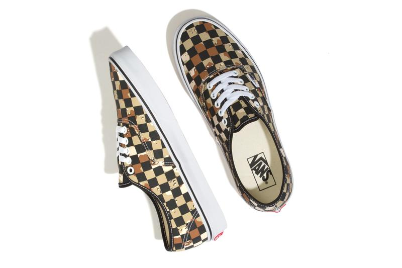 Vans Checkerboard Desert Camo Pack vans old skool slip on authentic
