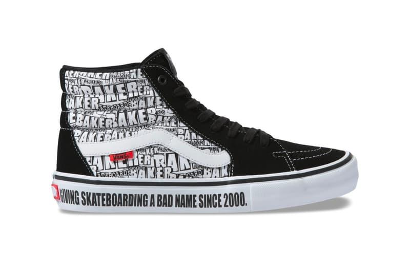 Vans Baker Skateboards Old School Pro Sk8 Hi Pro Style 112 slip on t shirt socks long sleeve hoodies graphics giving skateboarding a bad name since 2000