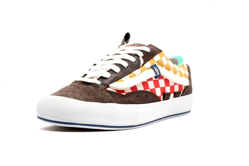 Vans Vault UA Old Skool Cap LX Regrind Multicolor Black Brown Patches Deconstructed Skate Footwear Sneaker Release Information First Look Closer Imagery Official Date Suede Overlays Vulcanized Off The Wall