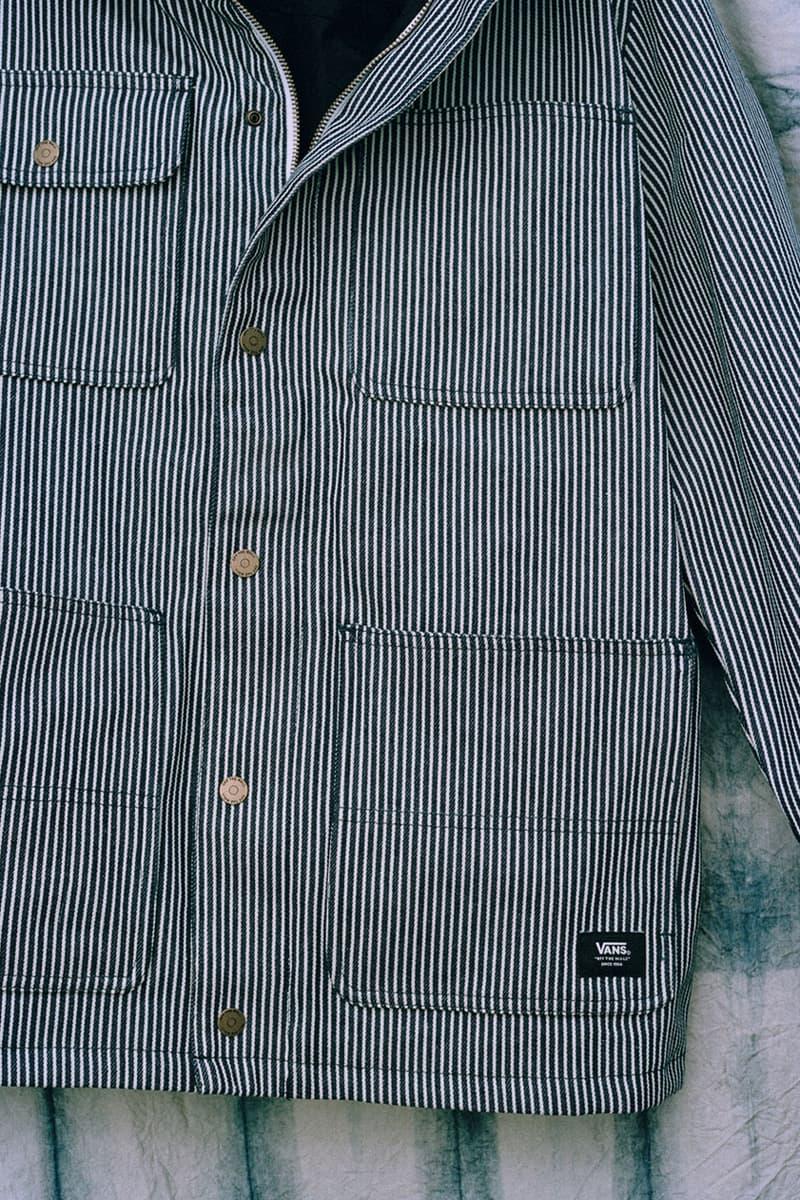 Vans Workwear Mt Vernon Pack Release Info sk8 hi slip on era striped footwear denim apparel fabric textile mount vernon mills oldest in us