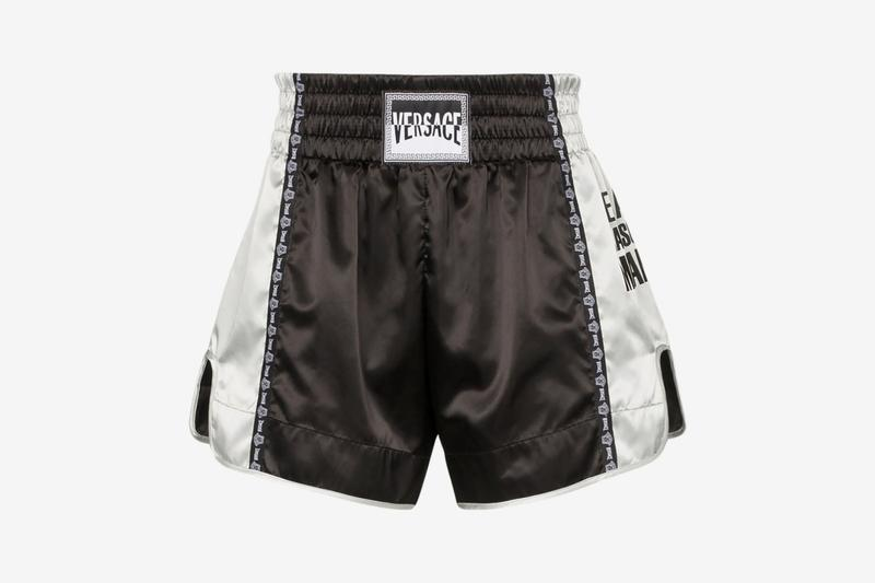 Versace Logo Patch Boxing Shorts Release Info Buy Black Silver