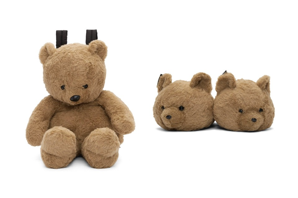Vetements Latest Slippers & Backpack Employ the Use of a Plush Teddy Bear