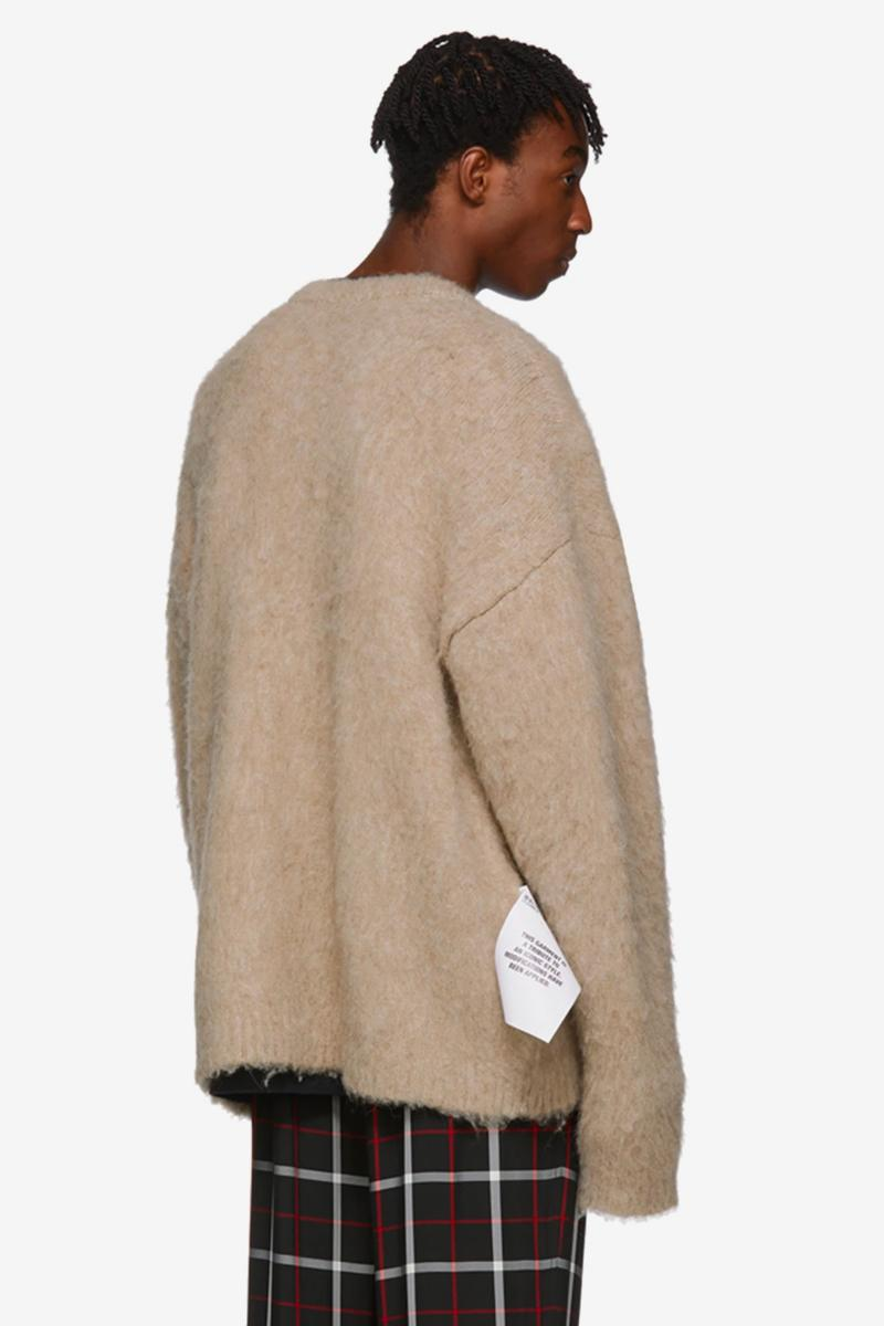 Vetements Five Button Cardigan Release Info Buy Beige Kurt Cobain Nirvana
