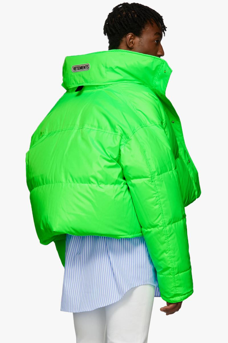 Vetements Reversible & Convertible Pink Green Down Fluorescent Puffer Jacket Release Information Fall Winter 2019 FW19 Collection Demna Gvasalia