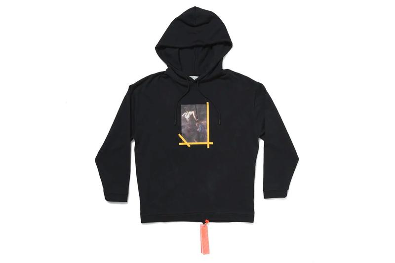 MCA Chicago Drops More Virgil Abloh Exhibition Apparel hoodie bernini caravaggio off white mona lisa socks industrial belt t-shirts drop date release info buy now anorak