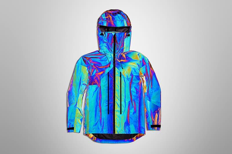Vollebak Black Squid Jacket Release metallic black liquid metal Info Buy Release Technical Techwear Fashion Reflective ski snowboard