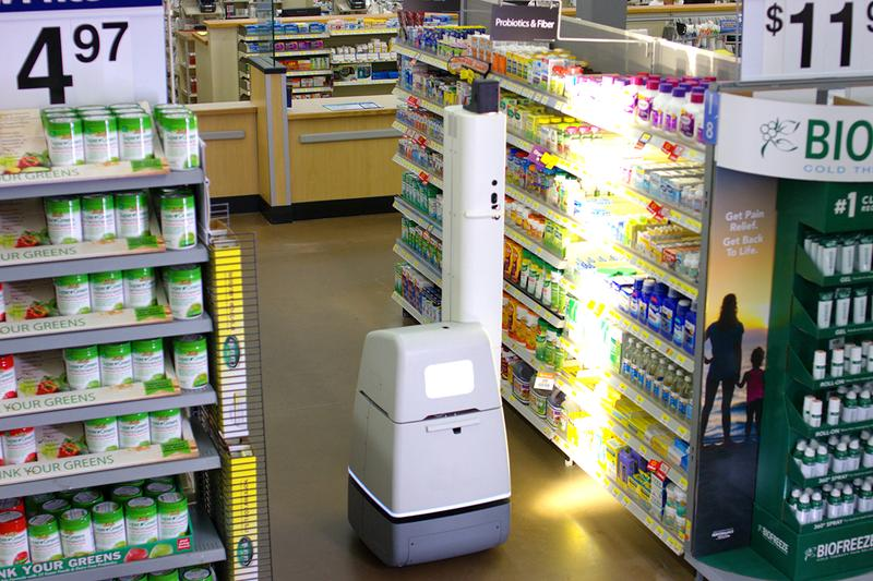 Walmart Robot Army Store Aisles Employees Customers Automation Bossa Nova Scanning Robotics Retail