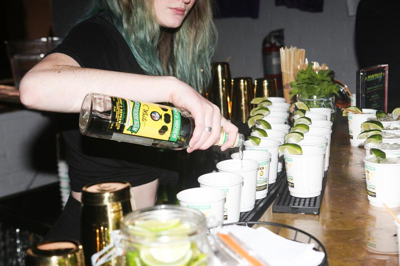 """Wray & Nephew's SNS Bar NYC Pull Up! Party Recap dancehall green black yellow liquor drinking cocktails  j'ouvert DJs  Bobby Konders  Jabba Selektah Twice and Joseph Demension   chunes for """"From Long Time- Return to the Ukrainian Home"""