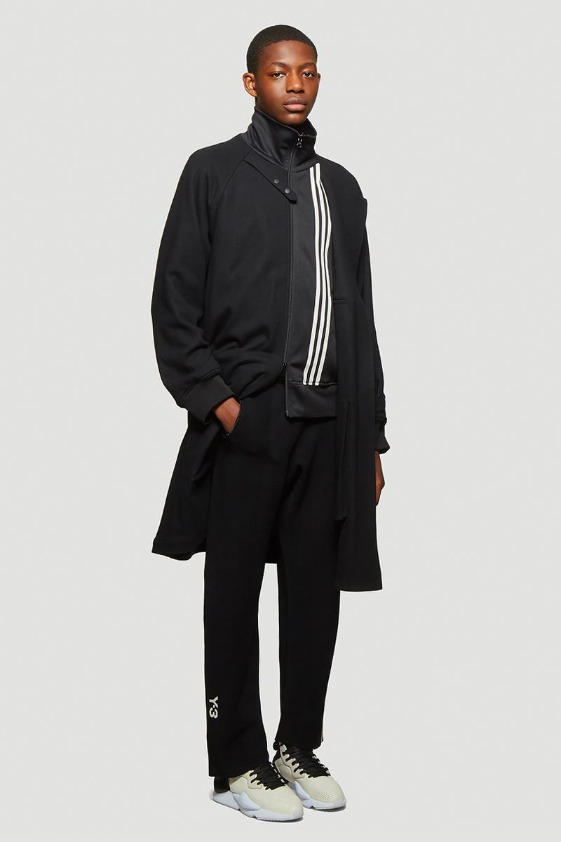 Y-3 M3 STP Reversible Coat Black Oversized Varsity Track Jacket Red wool technical yohji Yamamoto adidas three stripes nylon technical progressive fabrics