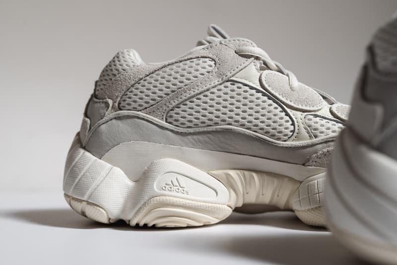 adidas YEEZY 500 Bone White Closer Look Release Info bonwht orginals fv3573 tan salt blush brown off