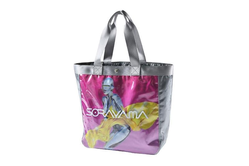 Hajime Sorayama x PORTER x Sync. Vinyl Bags medicom toy collaboration yoshida kaban japan nylon pvc tote sacoche pouch release date info buy