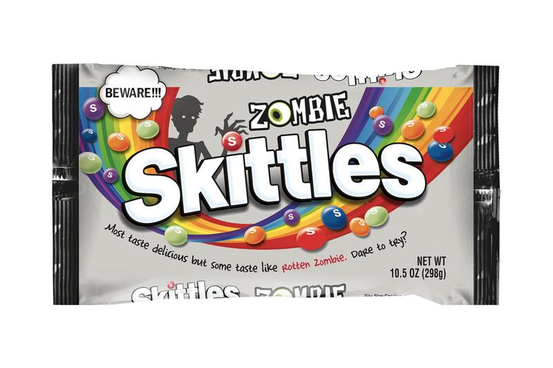 New Rotten Zombie Skittles Candy taste the rainbow Petrifying Citrus Punch Mummified Melon Boogeyman Blackberry Chilling Black Cherry Blood Red Berry mars
