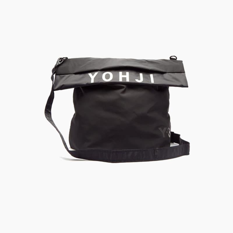 Y-3 Black Logo Messenger Bag