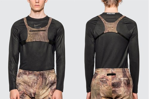 "1017 ALYX 9SM Drops Signature Chest Rig in ""Camo Green"""