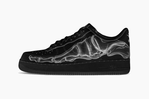 "Nike Air Force 1 '07 ""Black Skeleton"""