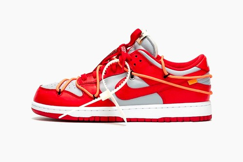 "Off-White™ x Nike Dunk Low ""University Red"""
